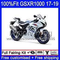 Инъекция для Suzuki GSX-R1000 GSXR-1000 K17 GSXR 1000 17 18 19 331HM1 Горячий глянцевый белый GSX R1000 L7 L8 GSXR1000 2017 2018 2019 Объекты