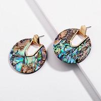 Kendra Style Design Nuova Collezione Statement Round Disc Abalone Shell Ciondola gli orecchini con pendenti Collezione Stunning Weightless Jewelry Earrings