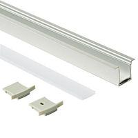 Поверхностный монтаж корпус из светодиодного алюминиевого профиля и экструзия профиля T-типа с ПК milky cover для потолочного или встраиваемого настенного светильника 36 мм*27 мм