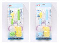 6 Pçs / set Escova para Garrafas de Esponja Limpo Garrafa de Alimentação Do Bebê Leite Copo De Água Leite Manequim Mamilo Chupeta Kit Escovas