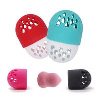 Porta spugne in silicone a forma di capsula Scatola di essiccazione Contenitore per uova di bellezza Espositore per soffio cosmetico Traspirante HHA564