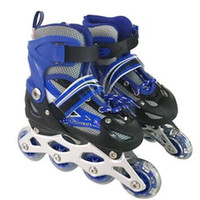 adult children Single row Roller skates PVC 4wheels flashing outdoor sport for kids