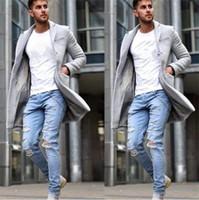 Düğme Moda Uzun Kollu Erkek Lüks Giyim Kış Erkek Yaka Boyun Karışımları Coats ile Tasarımcı Casual Outerwears