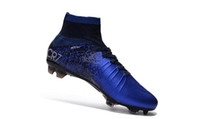 Zapatos azul CR7 unisex Tacos de fútbol Mercurial Superfly original V SX Neymar niños de fútbol de alta del tobillo de Cristiano Ronaldo Fútbol para mujer Botas