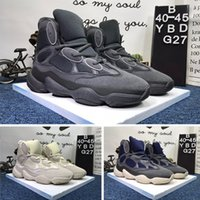 Nytt Salt Kanye West 500 Mens High-Top Jogging Shoes 2019 Designer Skor Super Moon Yellow Blush Desert Rat Womens Casual Sneakers GF9711