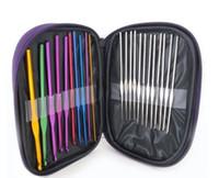뜨개질 바늘 알루미늄 원형 바늘 핸드 도구 링 세트 홈 바느질 공예 22pcs / lot LXL777