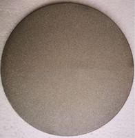 Aduana 0.5 10 90 micras acero inoxidable 200 micras 304L 316L acero inoxidable sinterizado polvo de metal filtro poroso