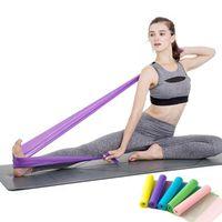 150 cm Tensión natural banda elástica Salud Ejercicio Elástico Deporte Látex Estiramiento Cinturón Tire de la correa Banda de resistencia de yoga