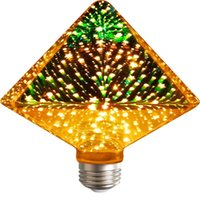 NEW 3D Star led bulb Decoration Edison Bulb E27 220v A60 ST6...