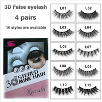 4 Pairs Natural False Eyelashes Fake Lashes Long Makeup 3d M...