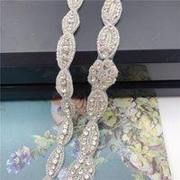 verre cristal strass garniture de ruban Hot Fix ruban de fer sur la parure en appliques Chaussures habillées pour l'artisanat du vêtement diy