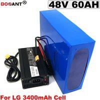 Batteria al litio ricaricabile 48 V 60AH per Bafang BBSHD 2000 W 3000 W Motore Batteria bici elettrica 48 V + 5A Caricatore Spedizione gratuita