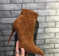 جديد فاخر الجلد المدبوغ الخنجر أشار أصابع المرأة مصمم الأزياء الكاحل مثير السيدات أحمر أسفل ارتفاع كعوب الأحذية مضخات الأحذية حجم 4-10