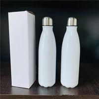 17 oz garrafa de sublimação cola 17 onças garrafa de aço inoxidável Cola vácuo parede dupla com isolamento beber do copo 500ml garrafas de água esportivas ao ar livre