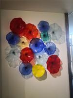 يتوهم الألوان أنيقة زجاج الجدار الديكور مهب لوحات الزجاج زجاج مورانو نمط جدار الفن لوحة أضواء