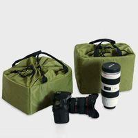DSLR للماء التقسيم SLR عدسة الكاميرا مبطن حقيبة التخزين حقيبة يد حقيبة