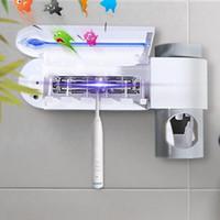 3 in1 Antibacteria УФ-свет ультрафиолетовый стерилизатор держатель зубной щетки очиститель ванная комната организатор Автоматический дозатор зубной пасты ЕС / Великобритания / США Plug