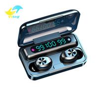 Vitog TWS F9-10 무선 블루투스 이어폰 도박 헤드폰 헤드셋 이어 버드 3 LED 디스플레이 및 마이크로