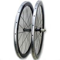 الكربون سبائك 50MM الدراجة الفاصلة عجلات دراجة 700C من ألياف الكربون الطريق دراجة سباق العجلات مع سطح سبيكة الفرامل المحور powerway الكربون