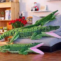 Alligator Stuffed Animal Crocodile Plush Toy Large Big Realistic Stuffed Child Pillow Cushion Soft Cuddly Figures for Kids Girl Boys