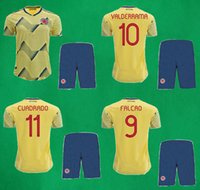 19 20 Colombia Soccer Jersey Shorts Home Yellow Soccer Kits ...