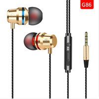 2019TEBAURRY G86 Metal Earphones with Microphone t Earbuds I...
