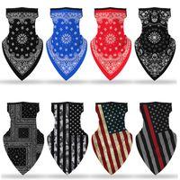 Amerikanische 3D-amerikanische Flagge Maske Druck Männer und Frauen Schal Gesicht maskdust Beweis Reit Maske Festliche Party-Masken T2I51122