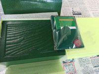 Ücretsiz Kargo En Lüks İzle Marka Yeşil Orijinal Kutu Kağıtları Hediye saatler Kutuları Deri çanta Kart Rolex İzle Kutusu Için 0.8 KG