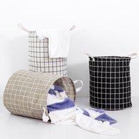 Lavado de la cesta de lavadero plegable impermeable de la cesta de lavadero de la tela escocesa ropa sucia bolsa de almacenamiento Organizador de juguetes Ropa Caja de almacenamiento BH1337 DBC