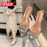 Transparent Crystal Beach Ladies chaussures confortables en caoutchouc Sandales Femmes Outdoor Slip Shoes Sandalen Slingback été femme LY191203