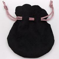 Borse per gioielli con logo Pan Borsa per borse con cordino in melograno nero Scamosciato Perle in stile europeo Bracciale per ciondoli Bracciale personalizzato