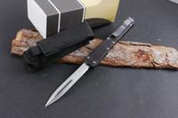Offre spéciale Micro II 106-1 Makora Saint Ant II Auto Couteau tactique D2 lame en fibre de carbone poignée de chasse Couteau de poche pliable