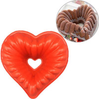 Любовь Сердце форма торт плесень силиконовые замораживание и выпечка кондитерские формы мусс хлеб плесень формы для выпечки DIY антипригарный торт Пан