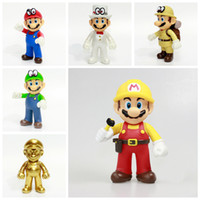 Nuovo 13CM Super Mario Figure Giocattoli Super Mario Bros Bowser Luigi Koopa Yoshi Mario Maker Odyssey Action PVC Figure Model Dolls Toy