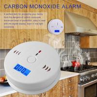 CO Gaz Sensörü Dedektör Karbonmonoksit Zehirlenmesi Alarm Dedektör LCD Fotoelektrik Bağımsız 85dB Duyarlı Yüksek Uyarı