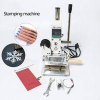 ZS-100B ذات الاستخدام المزدوج يدوي بطاقة PVC جلدية قلم رصاص ورقة احباط الساخنة ختم البرنز النقش آلة الصحافة الحرارة
