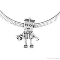 2019 Прямые продажи Real 925 ювелирных изделий стерлингового серебра Подвески Робот Шарм шариков Подходит европейские браслеты ожерелье для женщин Making
