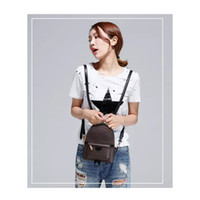 2020 Marca Mulheres Couro Mochila Casual Luxury Adolescente Meninas de alta qualidade Moda saco de escola MINI Backpack Feminino