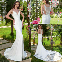 2020 Sexy Backless Mermaid Wedding Dresses Appliqued Beading...