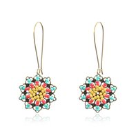 Simple Vintage Geometric Round Statement Dangle Earrings For...