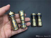 Cam Suyu Sigara boru Renkli Evrensel Kubbesiz 2'de 1 GR2 Titanyum Tırnak 14mm 18MM Kadın Eklem