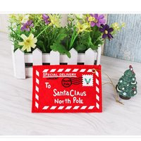 Tarjeta de Navidad del caramelo del sobre del árbol de Navidad Decoración titular bolsa Tarjetas de Venta no tejido de la cubierta del partido tarjeta de regalo de decoración Bueno Shippping