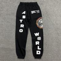 Los pantalones del resorte del otoño pantalón Travis Scott AstroWorld Hombres Pantalones Hip Hop letra impresa para Hombres