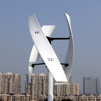 Спиральный ветрогенератор 600 Вт 12 В Красный / Белый VAWT Вертикальная ось Энергетика для жилых помещений с ШИМ-контроллером зарядного устройства