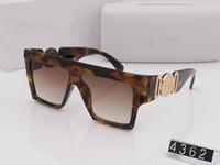 Sommer Stil Italien Marke Meduse Sonnenbrille 4362 Frauen Männer Markendesigner UVschutzsun Gläser klare Linse und Beschichtung Objektiv Sunwear