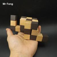 خمر التنين لغز لعبة تدريب الدماغ كيد خشبية كونغ مينغ قفل تعليم الدعامة التعليم (نموذج رقم BT005)