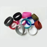 Anillo de silicona de 8,5 mm del multicolor estilo punk Deportes anillos par hombres mujeres joyería y accesorios de ejercicio de compromiso de la boda del partido