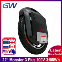 2020 Gotway Monster 3 Plus 22inch Titan 3th Monster Electric Toolcle 100V 3108Wh Full Bluetooth Haut-Parleur 21700 Batterie