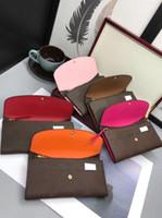 2019 Livraison gratuite en gros dame Multicolore Coin Porte-monnaie Portefeuille Portefeuille Colourbulle Porte-cartes Original Boîte Femme Classic Zipper Poche