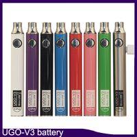 Autêntica EcPow UGO-V3 III Preaquecimento Da Bateria 650 mAh 900 mAh 510 Rosca com Carregador USB VS Max visão spinner II 3 s bateria 0270001-1